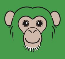 Chimpanzee Face Kids Clothes