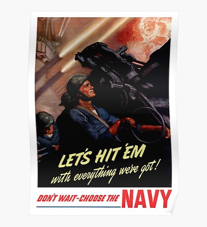 Choose The Navy -- WW2 Recruiting Poster