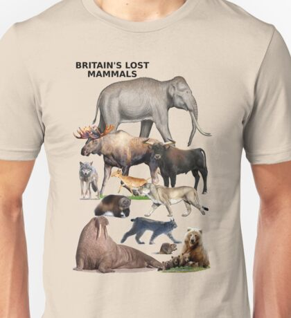 Britain's Lost Mammals Unisex T-Shirt