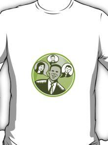Businessman People Smiling Speech Bubble T-Shirt
