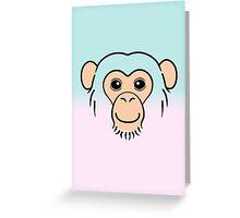 Chimpanzee Face Greeting Card
