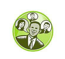 Businessman People Smiling Speech Bubble by patrimonio