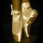 First Pointe Shoes by Denise Hussey