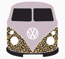 Leopard Print VW Camper Kids Tee