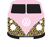 Leopard Print VW Camper by splashgti