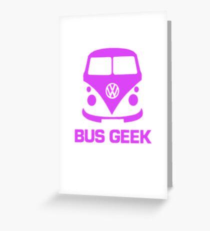 Bus Geek Purple Greeting Card