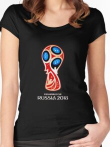 Russia 2018, Fifa World Cup logo (A) Women's Fitted Scoop T-Shirt