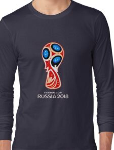 Russia 2018, Fifa World Cup logo (A) Long Sleeve T-Shirt