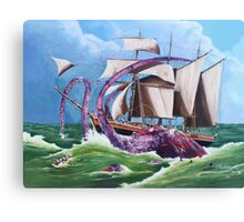 BIG RED SQUID Canvas Print