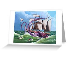 BIG RED SQUID Greeting Card