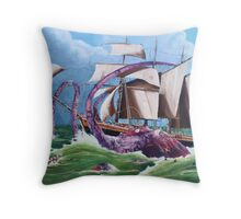 BIG RED SQUID Throw Pillow