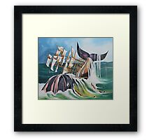 THERE SHE BLOWS Framed Print