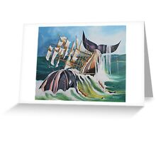 THERE SHE BLOWS Greeting Card