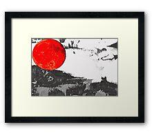 red moon Framed Print