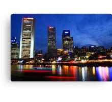Singapore River evening, Urban Landscape Canvas Print
