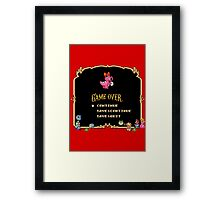 Game Over / Super Mario Bros. 2 Framed Print