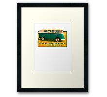 VW Camper Old School Framed Print