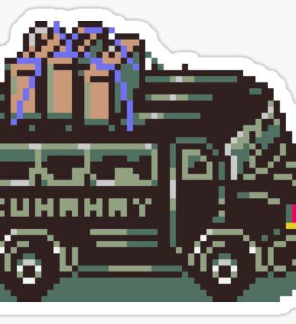 Runaway 5 (Tonzura Brothers) Bus - Earthbound Sticker