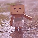 Danbo dancing in the rain by Elinor Barnes