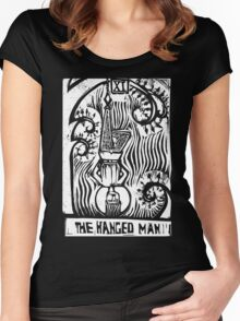 The Hanged Man - Tarot Cards - Major Arcana Women's Fitted Scoop T-Shirt