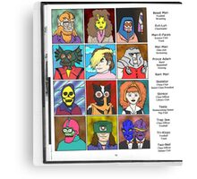 Masters of the Universe Class of '82 Canvas Print