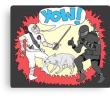 Wolf Beats Ninja Canvas Print