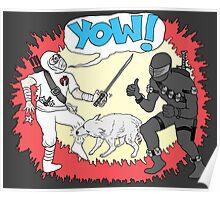 Wolf Beats Ninja Poster