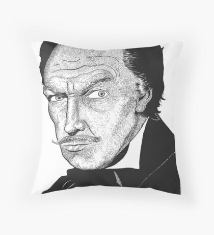 Vincent Price Throw Pillow
