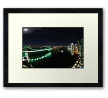 Panorama | Story Bridge (Green) Framed Print