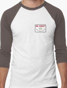Mr. Robot Patch Men's Baseball ¾ T-Shirt