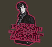 Sherlock - Sociopath not Psychopath by waynejay