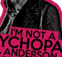 Sherlock - Sociopath not Psychopath Sticker