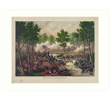 Civil War Battle of Spotsylvania Court House by Kurz & Allison Art Print
