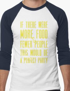 Ron Swanson perfect party Men's Baseball ¾ T-Shirt