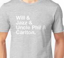 Will & Jazz & Uncle Phil & Carlton Unisex T-Shirt