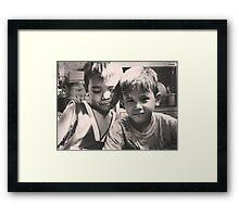 Neighborhood Kids Framed Print