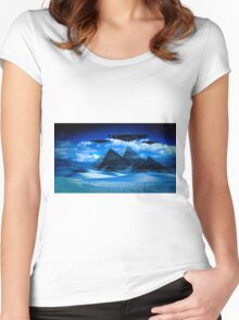 Ancient Aliens by Raphael Terra Women's Fitted Scoop T-Shirt