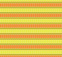 seamless pattern with lemon, orange and abstract leaf by Irinavk