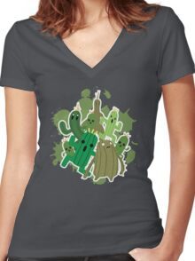 Cactuar Women's Fitted V-Neck T-Shirt