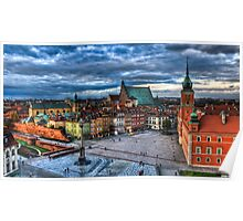 Warsaw Old Town Poster