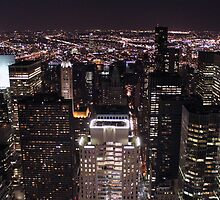 New York Night Skyline by pixog
