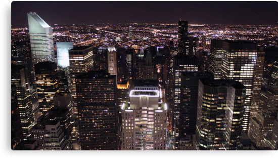 New York Night Skyline by pixog