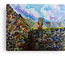 Deserted Farm Buildings, Gortconny Townland, Ramoan, Ballycastle, County Antrim.  Canvas Print