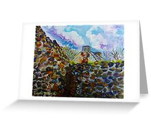 Deserted Farm Buildings, Gortconny Townland, Ramoan, Ballycastle, County Antrim.  Greeting Card