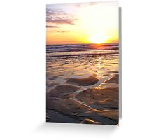 Sunset over Woolacombe Bay Greeting Card
