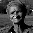 Namaqualand local Khoi-San woman in B&W by fourthangel