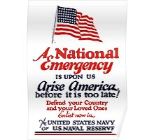 Arise America -- Enlist Now In The United States Navy  Poster