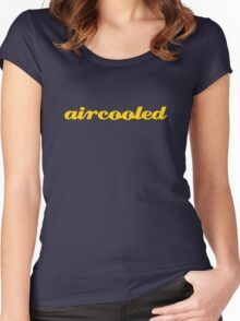 aircooled - yellow Women's Fitted Scoop T-Shirt