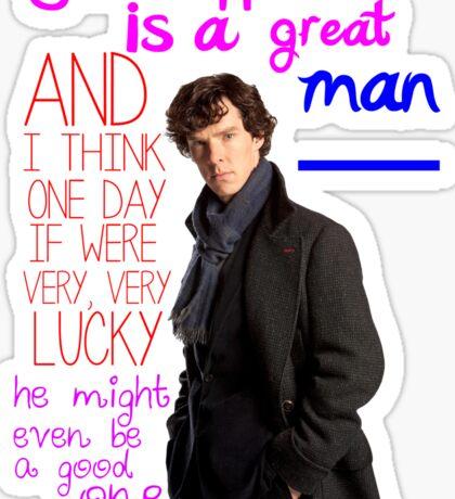 BBC Sherlock: Lestrade Quote. Sticker