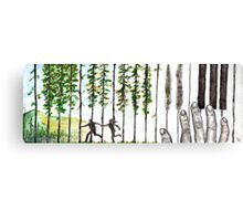 Run To The Trees Canvas Print